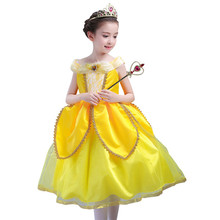 Klaring Voorraad Belle Prinses cosplay Jurk Lange Jurk Party Dress Halloween Kerst Kostuum