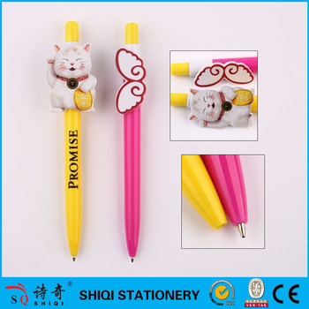 promotion animal series OEM cartoon shape clip ballpoint pens