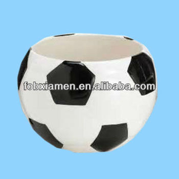 Wholesale large soccer ball shaped planter and cookie jar