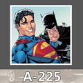 A 225 Superman Batman Waterproof DIY Stickers For Laptop Luggage Fridge Skateboard Car Graffiti Cartoon Stickers
