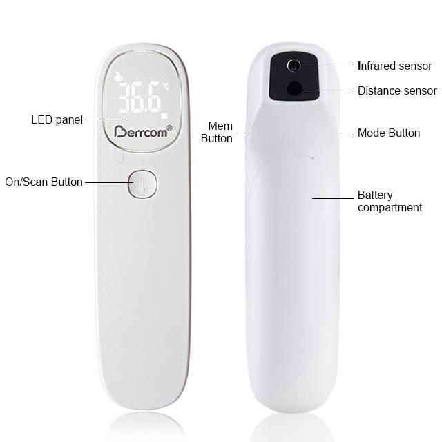 Bé nhiệt độ nhiệt phòng khám sốt Màn Hình hiển thị LED hồng ngoại nhiệt kế điện tử