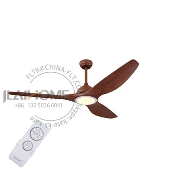 3 Wooden Blades Low Energy Ceiling Fan with 3 Color LED Light