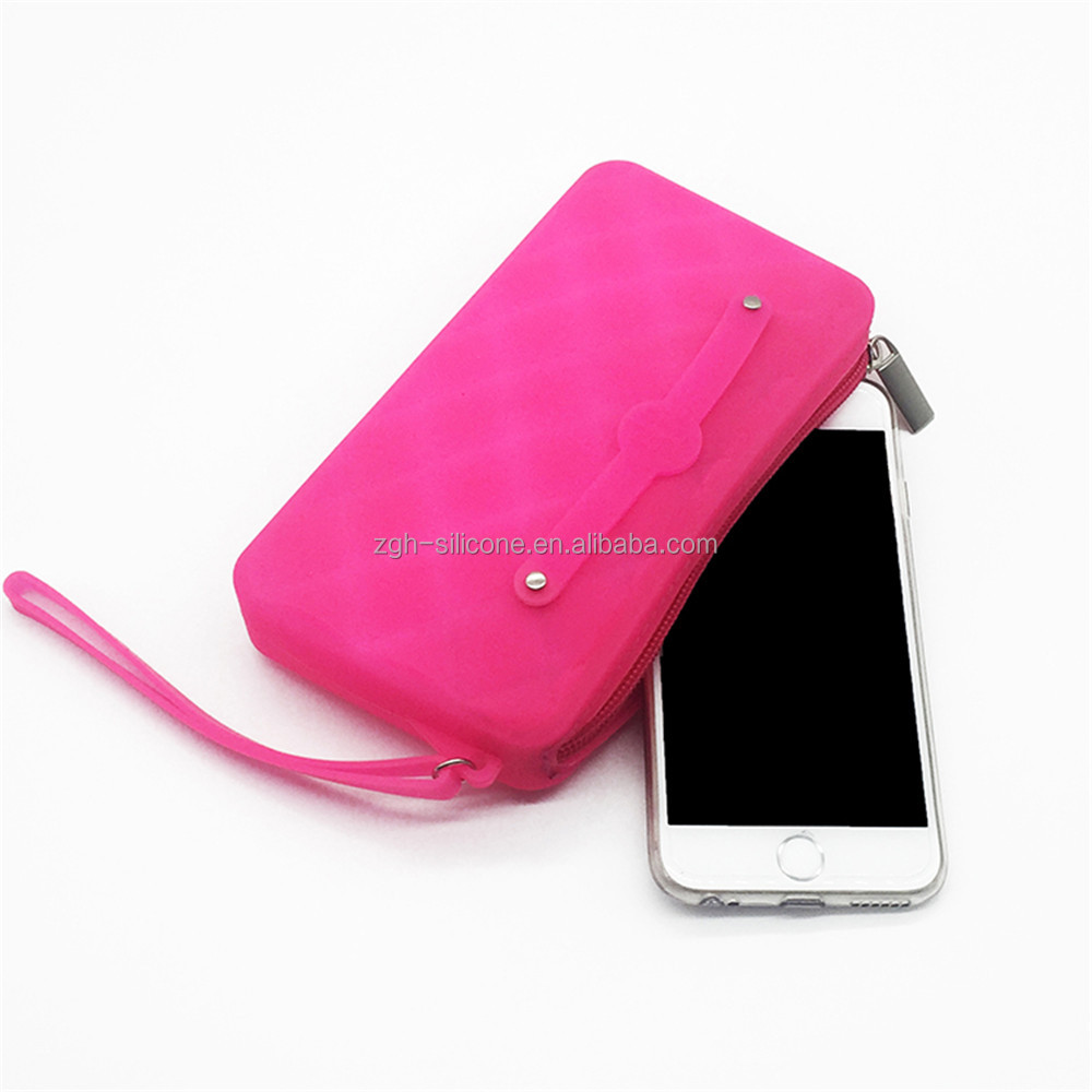 Fashion Ladues Silicone Hand Purse Best Quality Silicone Phone Bag