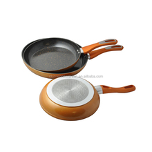 High quality kitchen accessories forged fry pan with induction bottom