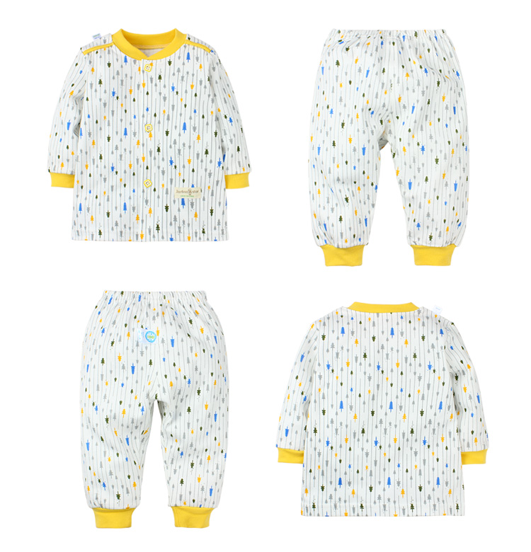 New design children clothes, kids baby t-shirt dress clothes suit set, 100%cotton Baby wear/Baby Sleepwear Suit
