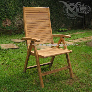 Teak Outdoor Reclining Chairs Vrc 013 By Indonesia Furniture Factory