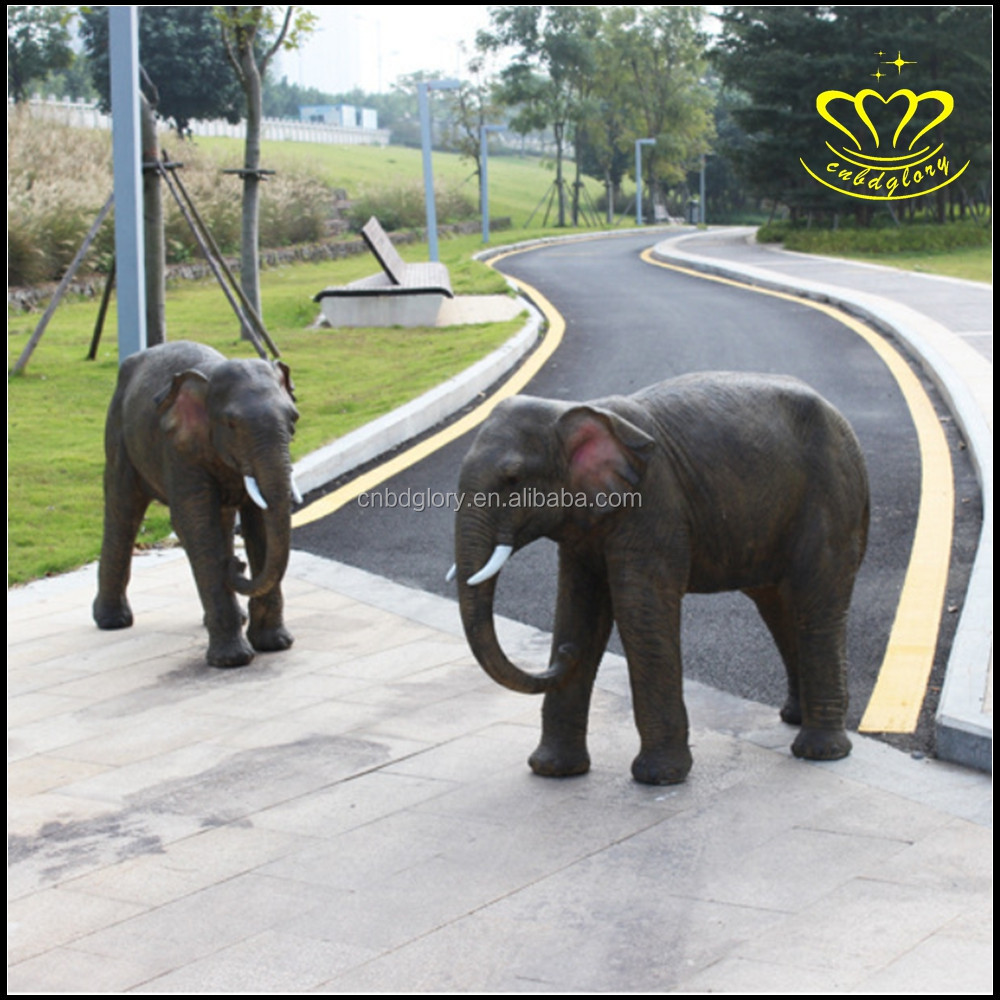 Resin Material and Sculpture Product Type elephant