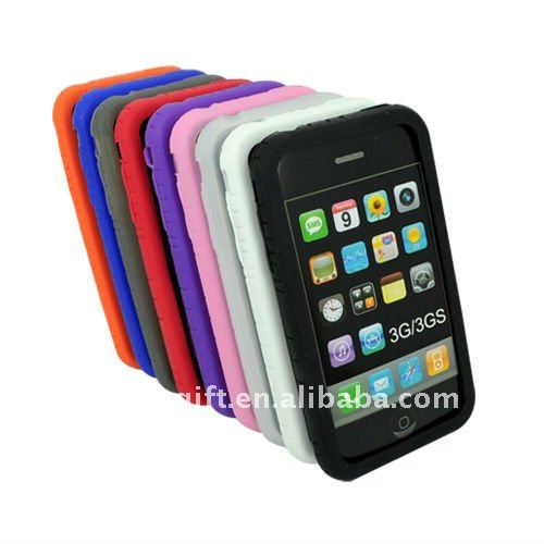 Silicone phone covers for iphone 3GS