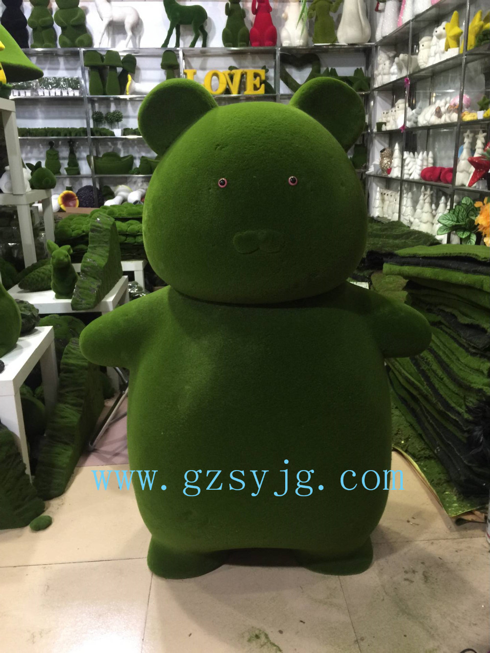 Artificial Animals Garden Decorative Moss Animal Topiary Bears View Garden Decoration Wire Animals Qingyuan Product Details From Guangzhou Qingyuan Landscape Garden Design Co Ltd On Alibaba Com