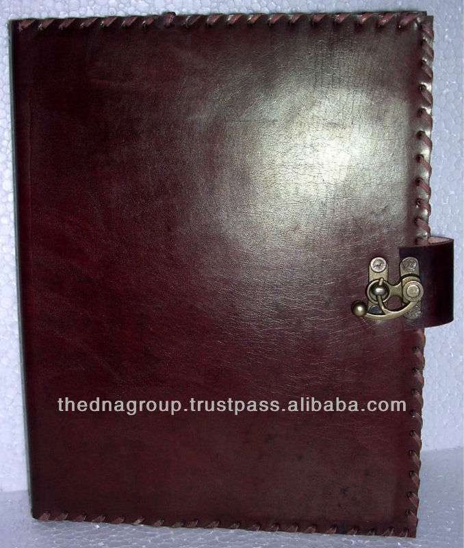 Simple 및 Plain Soft Leather 파일 Cover Certificate Business 폴더