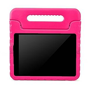 BMOUO Samsung Galaxy Tab E Lite 7.0 inch Kids Case - EVA ShockProof Light Weight Kids Case Super Protection Cover Handle Stand Kids Children Case for Samsung Galaxy Tab E Lite 7-Inch Tablet - Rose