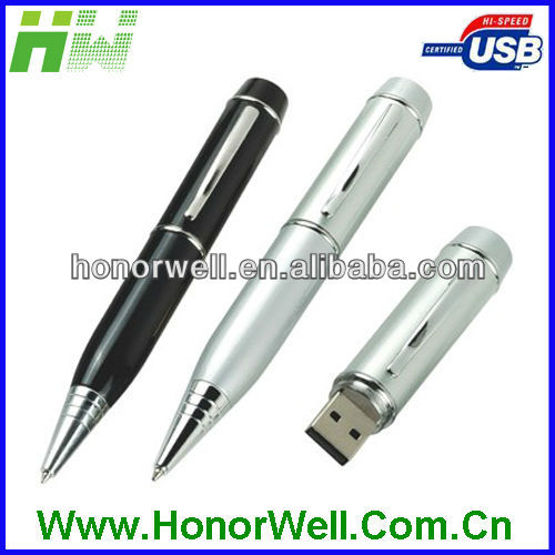 2013 OEM epoxy sticker on cup material bronze low competitive cheap price pen flash drive and pen drive card