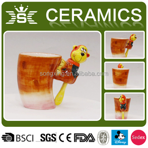 Ceramic Hand Painting Lovely 3D Animal Mug
