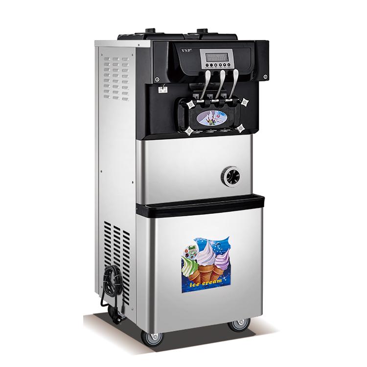 ร้อนขายนุ่มสามรสเครื่องทำไอศกรีม