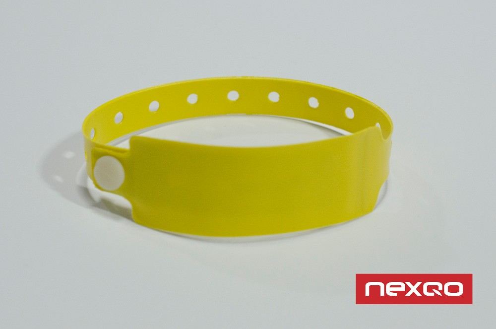 PVC UHF disposible RFID wristband tag, bracelet tag
