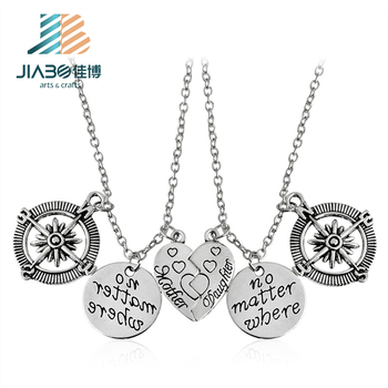 2018 china supplier letter charm necklace pendant with logo custom laser engraved