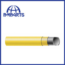Compressed air rubber hose with smooth and corrugation cover