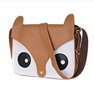 Labara Shoulder Bags Hotsale New Arrival Cartoon Bag Owl Leisure Women Leather Handbag Fox Wallets Women Messenger Bag Casual Bag (Khaki)