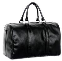 Fashion business men leather duffle bag weekend travel gym luggage bag