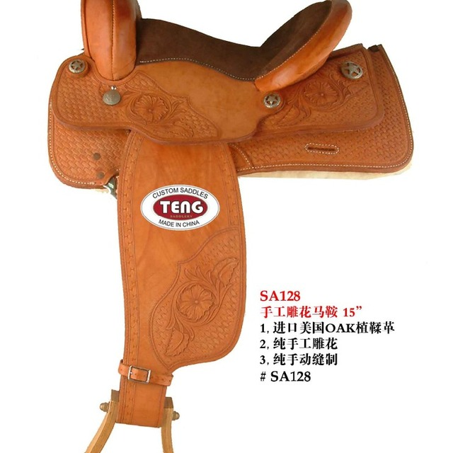 full grain spanish leather saddle with good quality