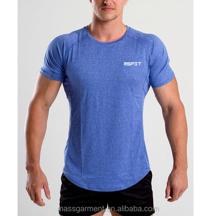 Heather Farbe Stretchy T-Shirt Fitnessstudio Fitness T-Shirt Herrenbekleidung
