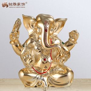 Hindu gods India ganesha statue decorative gift item Ganesha resin sculpture
