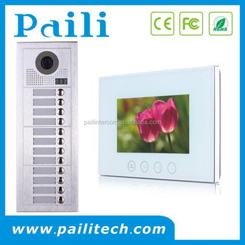 7 Video Door Phone Apartment Building Intercom System 2 Wire Entry