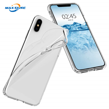 MaxShine Newest Clear case For iphone xs max , Soft TPU Transparent Crystal Clear Phone Case Cover For iphone 6 7 8 Case