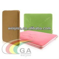 Leather cases laptop , envelope genuine leather laptop case