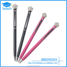 Hot arab six Red/Black Twist Action Crown Beautiful Stationary Gift Pen Best selling metal crown ball pen