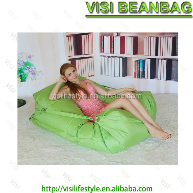 Rectangle Polyester Bean Bag Lounge With Head Support
