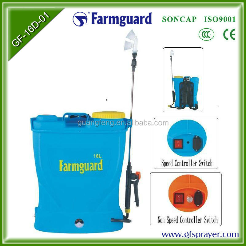 16l Automatic Water Rechargeable Regulator Speed Electric Sprayer ...
