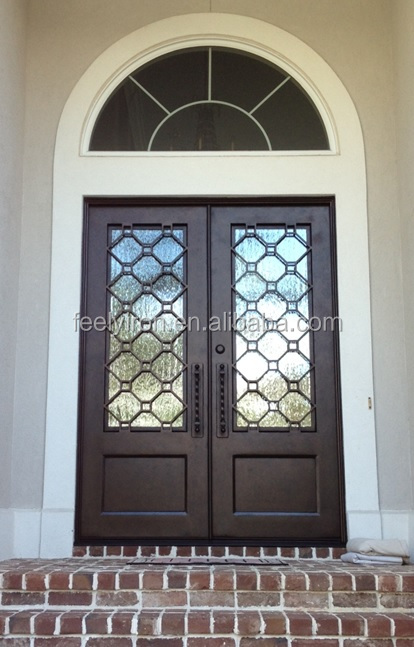 Custom Made Double Front Entry Iron Door Fd 378 Buy Entry Iron