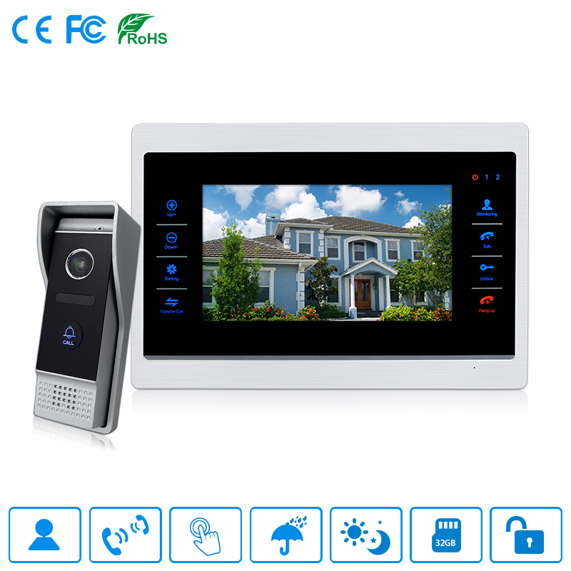 10 Inch Villa Video Door Phone Waterproof Intercom System