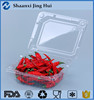promotion PET food grade clear plastic box for fruit, clear plastic box, food disposable box