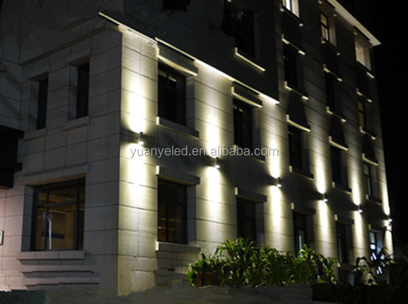 7w half moon only down or up down led wall lights outdoor led wall building lighting buy led. Black Bedroom Furniture Sets. Home Design Ideas
