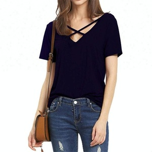 Factory Price Summer Casual Blouse Women Loose Custom T-Shirt