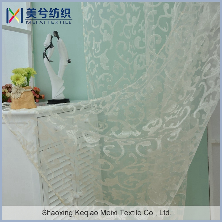 Latest Curtain Design 2017 Factory Sale Embroidered New European Luxury Style Sheer Curtains