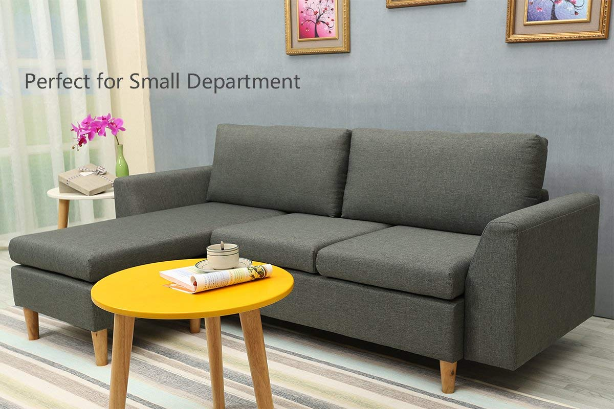 Sectional Sofa L Shape Couch With Reversible Chaise Couches And Sofas