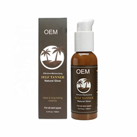 Private Label OEM ODM Natural Brown Organic Ingredients Sunbed Sunless Self-Tanning Body Tanning Lotion 100ml