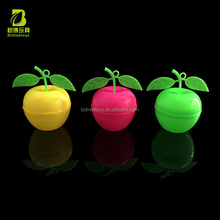 Cute Apple Bottle Plastic Candy Storage Packaging China Promotion Toys