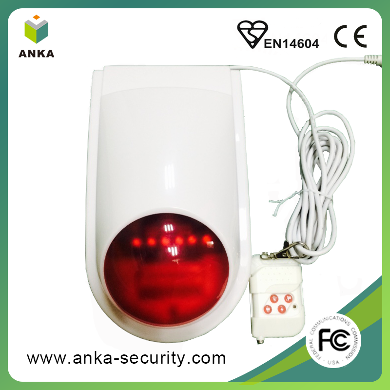 Free sample home security alarm system quick flash strobe light siren