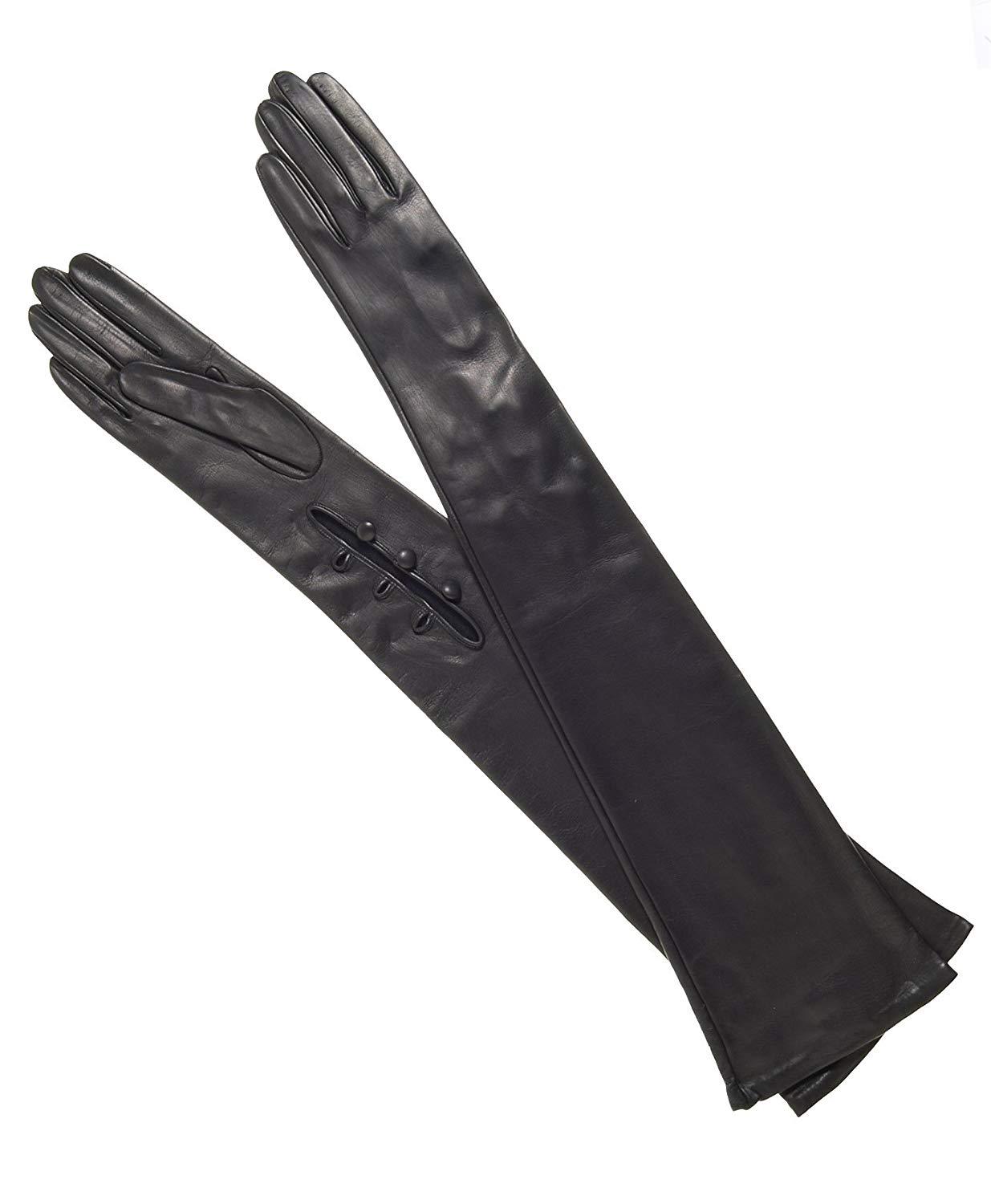 c6238276a Get Quotations · Fratelli Orsini Women's Italian Leather Opera Gloves -  16-Button Length