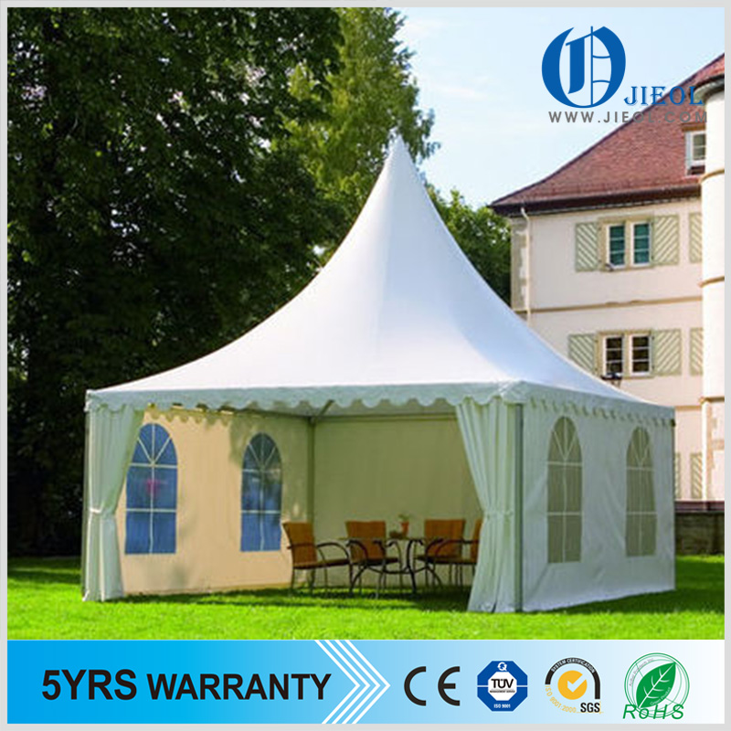 Guangzhou Elegant High Peak Four Windows Pagoda Tent For Family Picnic Party Outing Barbecue
