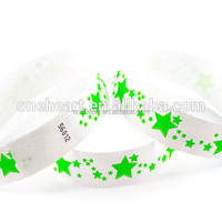Waterproof And Promotional Cheap Disposable High Quality Plain Colored Tyvek Bracelets Paper ID Wristbands