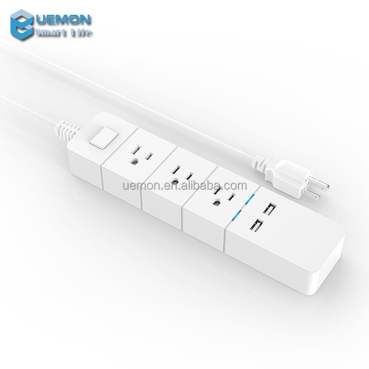 2017 most popular IOT Smart WiFi Power strip 3 Wireless Power Extension Socket