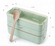 Wheat straw three layers lunch box