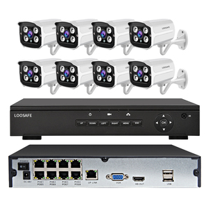 8 Channel H.264 NVR POE HD 1080P CCTV IP Cameras Kits 8 CH Home Video Surveillance Cameras System