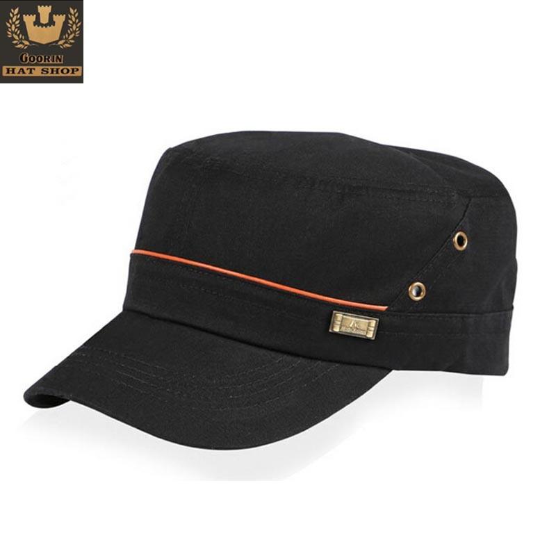 Get Quotations · Goorin Men Women Military hats Cotton Snapback Hip Hop 5  Panel truchker Caps Baseball Cap Outdoor b861200a7e0