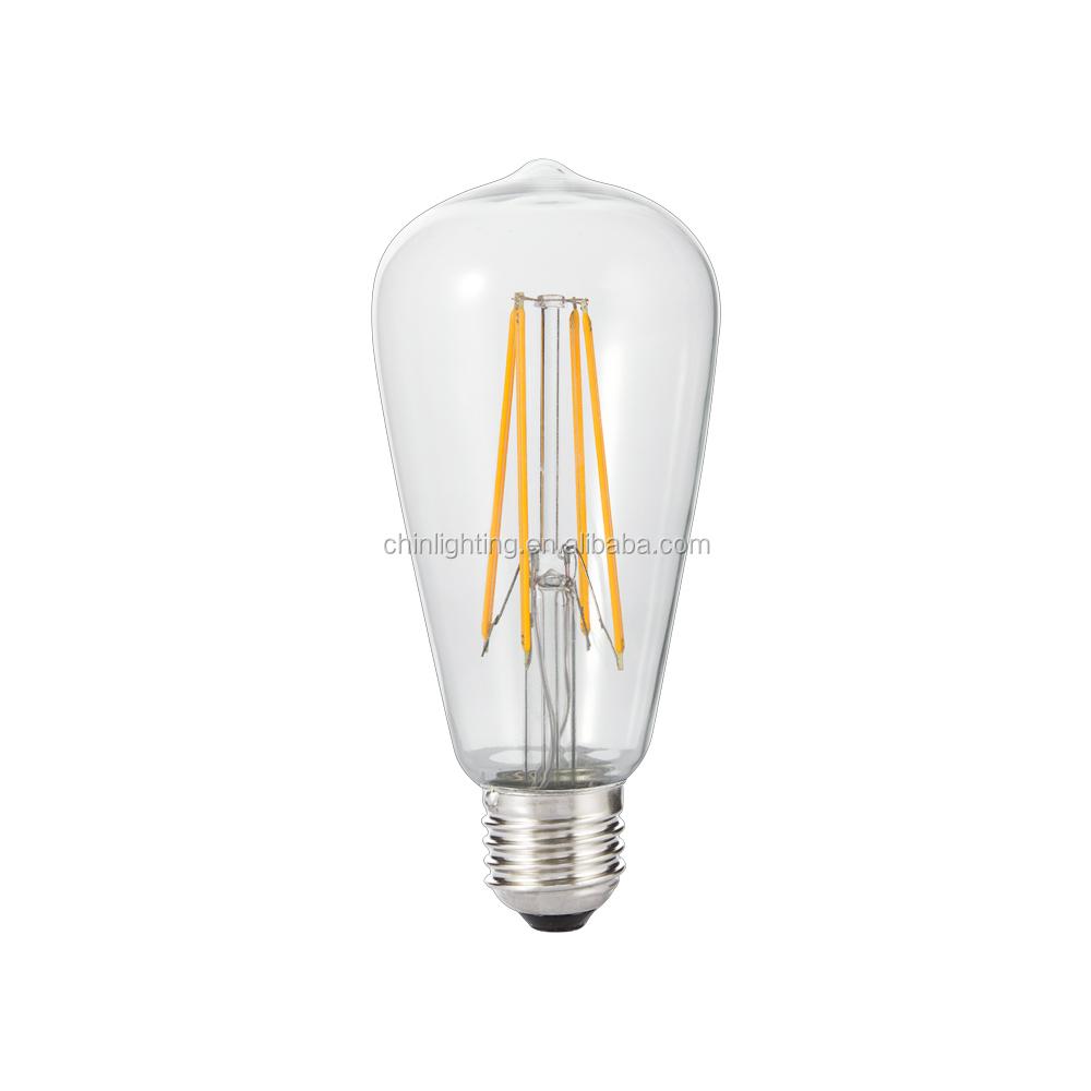 st64 led antique edison filament bulb st64 e27 12 volt led filament bulb 3000k decorative edison